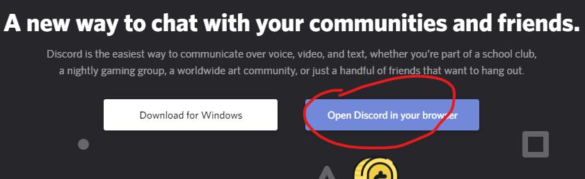 kuva Discordista: avaa Discord selaimella