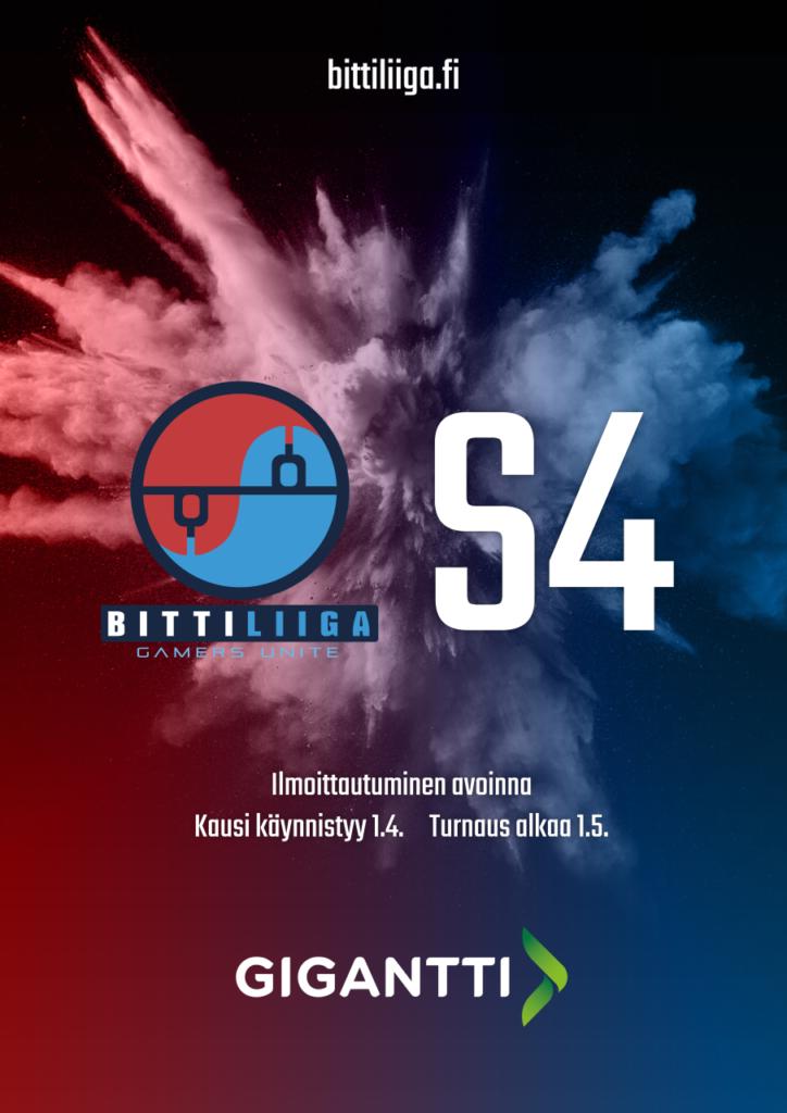 Bittiliigan mainoskuva tulevasta season 4 turnauksesta